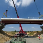 Europe's first plastic bridge is open