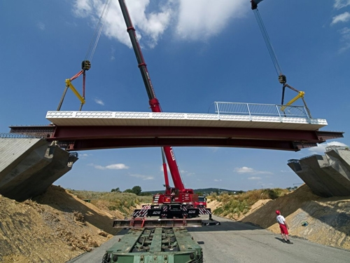 Europe's first plastics road bridge