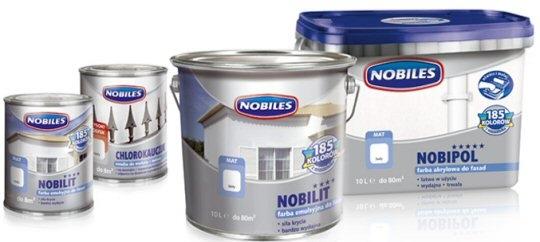 Opakowania farb Nobiles