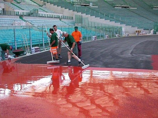 Tworzywa sztuczne na stadionie lekkoatletycznym
