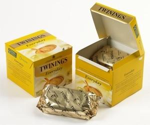Torebki ekspresowej herbaty Twinings Everyday opakowane w folię NatureFlex™ NM