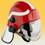 High-performance plastic Ultrason in firefighter's helmets