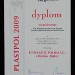 Wyróżnienie targów Plastpol dla firmy Ecoplastic Polska za technologię d2w