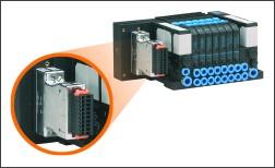 Połączenie jest wykonane bezpośrednio przy użyciu 25-pinowej wtyczki, która zapewnia otwartość na większość wiodących producentów. Dzięki temu możliwa jest integracja wysp zaworowych Bürkert, Festo, Rexroth, Norgren, SMC, i wielu innych, z istniejącym środowiskiem sieciowym, bez jakichkolwiek problemów i z minimalnym wysiłkiem potrzebnym do konfiguracji.