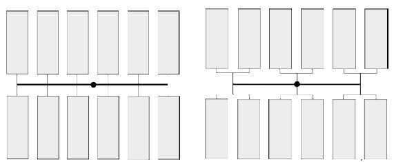 Doprowadzenie szeregowe i doprowadzenie równoległe tworzywa do gniazd formujących
