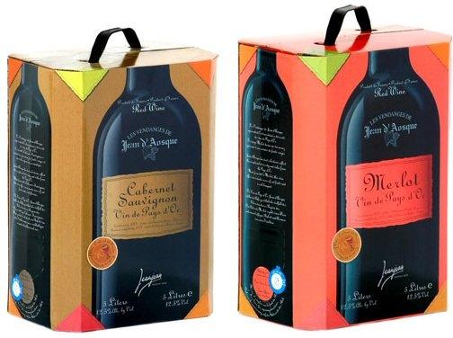 Wino w opakowaniach Bag in box