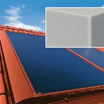 Solar collectors being insulated using Basotect from BASF