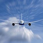 Samolot z tworzyw sztucznych fruwał po niebie