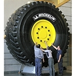 Michelin has developed the world's biggest tire, the MICHELIN XDR 59/80R63