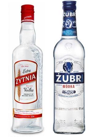 Nowe opakowania wódki Żubr i Żytnia