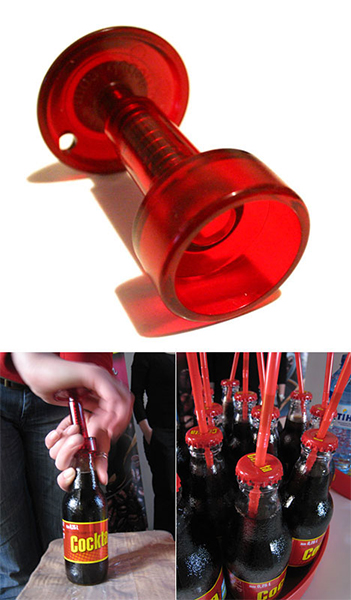 Cap piercing device