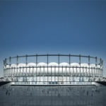 Makrolon sheets shape National Stadium in Romania