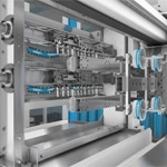 Flexible IML automation for injection molded thin-wall packaging