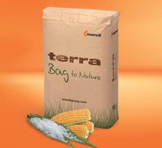 Mondi Group has introduced into the European market new and innovative packaging named Terra Bag.