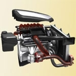 Hot air: metal replacement very close to the engine