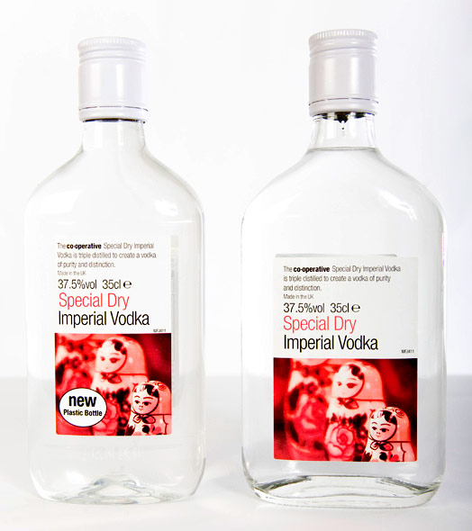 Recyclable vodka bottle release by Artenius PET Packaging Europe