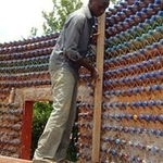 Recycled plastic bottle house