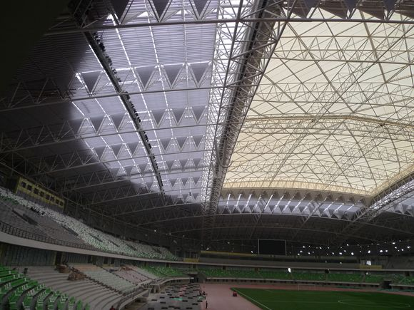 Basotect G+ provides effective sound insulation for China's largest retractable sports stadium roof