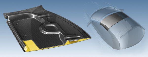 BASF lightweight automotive design, multi-segmented convertible roof module