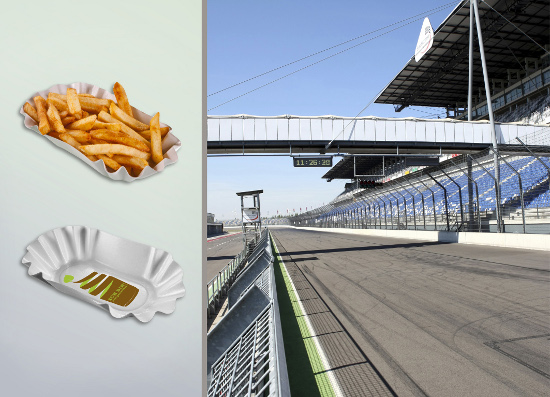 Lausitzring and BASF launch pilot project with compostable and disposable tableware