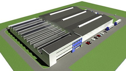 Projekt nowej fabryki firmy HSV Polska we Wrocławiu