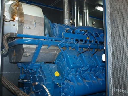 Silnik, w którym następuje spalanie biogazu