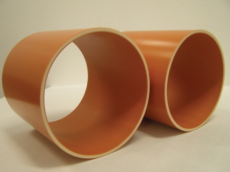 3-layer PVC pipe with a foam-core middle layer
