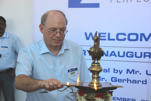 Managing Director Ulrich Zahoransky at inauguration