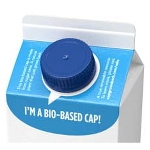 First bio-based cap for gable top packages