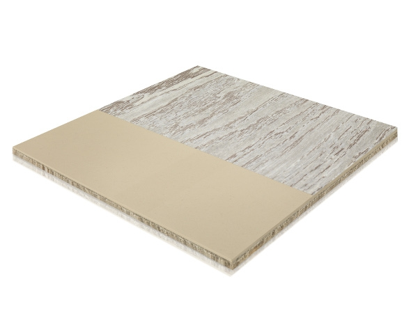 Typical LVT flooring structure – three-layer core material, decorative film and wear protection layer