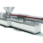 Dryerless PET extrusion with viscosity control