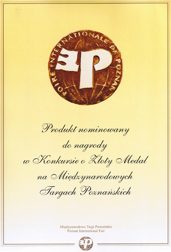 International Packaging Technology and Logistics Exhibition TAROPAK 2008 Gold Medal nomination